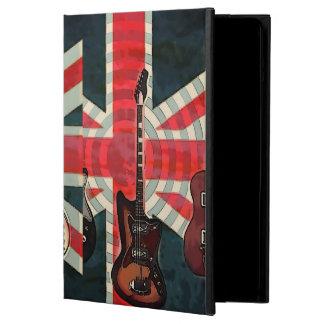 イギリスの英国国旗の旗の石ロールエレキギター iPad AIRケース