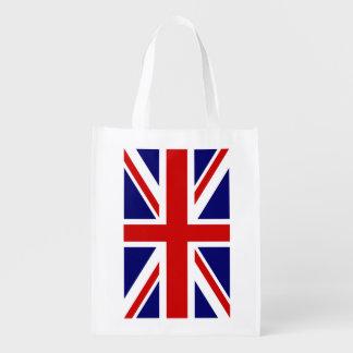 イギリスの英国国旗の旗の食料雑貨の買い物袋 エコバッグ
