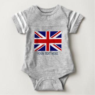 イギリスの英国国旗の旗のjerseyの赤ん坊のボディスーツ ベビーボディスーツ