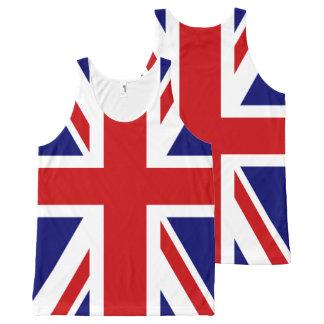 イギリスの英国国旗の旗 オールオーバープリントタンクトップ