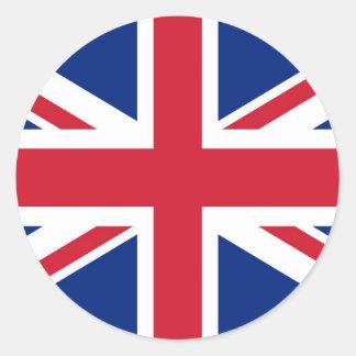 イギリスの英国国旗の旗-確実な版 ラウンドシール