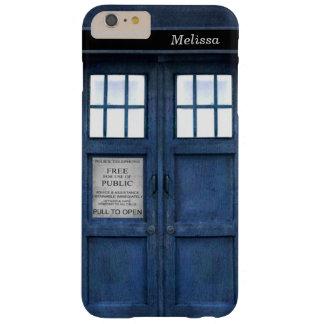イギリスの警察の電話箱のレトロの60年代パターン BARELY THERE iPhone 6 PLUS ケース