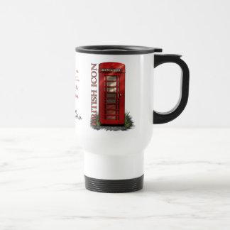 イギリスの赤い電話ボックスのカスタムなコーヒー・マグ トラベルマグ