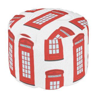 イギリスの赤い電話ボックスパターン プーフ
