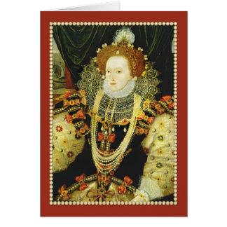 イギリスの身に着けている真珠のエリザベス女王一世 カード