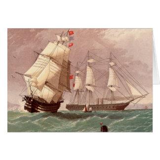 イギリスの軍艦HMSの戦士 カード