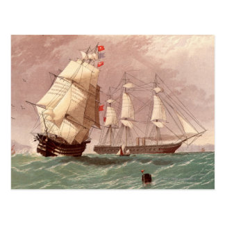イギリスの軍艦HMSの戦士 ポストカード