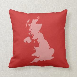 イギリスの輪郭のクッション-赤 クッション