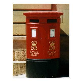 イギリスの郵便ポストの郵便はがき ポストカード
