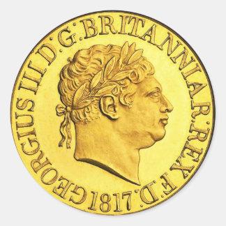 イギリスの金ゴールドの主権者1817年(6/20パック) ラウンドシール