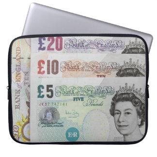 イギリスの銀行券のラップトップスリーブ ラップトップスリーブ