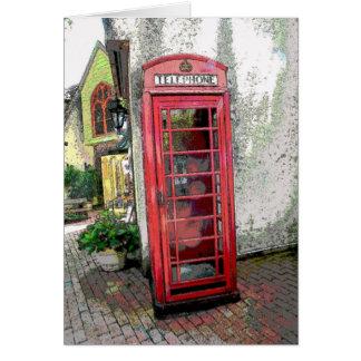 イギリスの電話ボックス カード