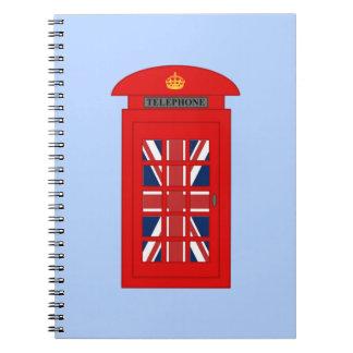イギリスの電話ボックス ノートブック