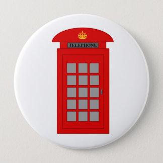 イギリスの電話ボックス 10.2CM 丸型バッジ