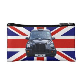 イギリスの黒いタクシー コスメティックバッグ