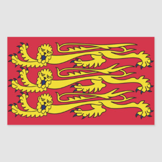 イギリスの4王室のな旗 長方形シール