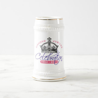 イギリスの60周年記念-王室のな記念品 ビールジョッキ