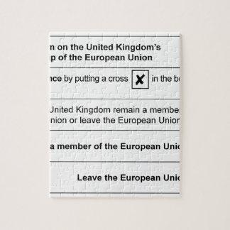 イギリスのBrexitの国民投票 ジグソーパズル