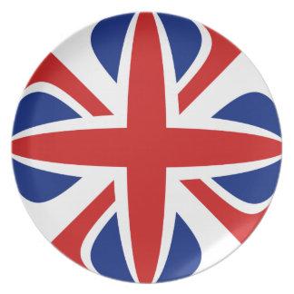 イギリスのFisheyeの旗のプレート プレート