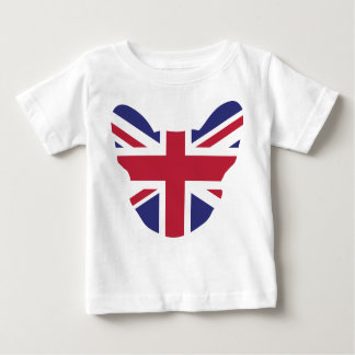 イギリスのFrenchie ベビーTシャツ