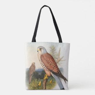 イギリスのKestrelの《鳥》ハヤブサのジョンGouldの鳥 トートバッグ