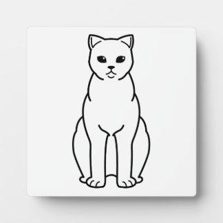 イギリスのShorthairの煙猫の漫画 フォトプラーク