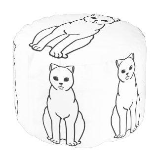 イギリスのShorthairの煙猫の漫画 プーフ