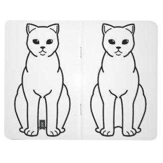 イギリスのShorthairの煙猫の漫画 ポケットジャーナル