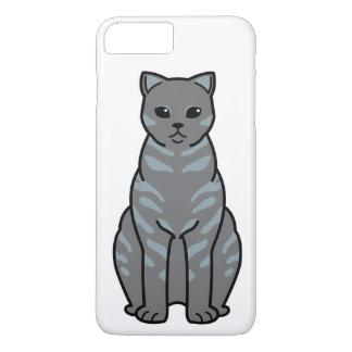 イギリスのShorthairの煙猫の漫画 iPhone 8 Plus/7 Plusケース