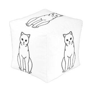 イギリスのShorthairの自己猫の漫画 プーフ