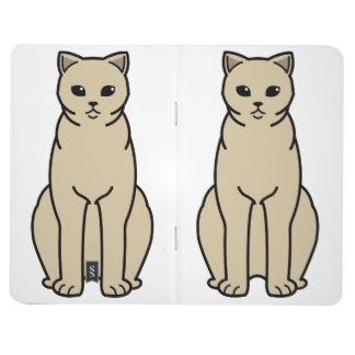 イギリスのShorthairの自己猫の漫画 ポケットジャーナル