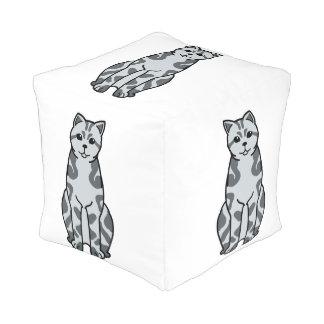 イギリスのShorthairの虎猫猫の漫画 プーフ