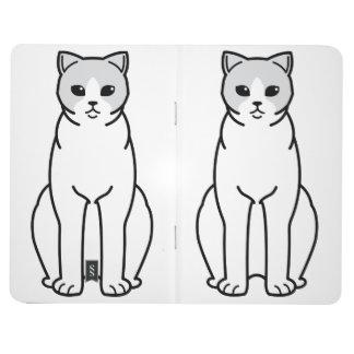 イギリスのShorthair二色猫の漫画 ポケットジャーナル