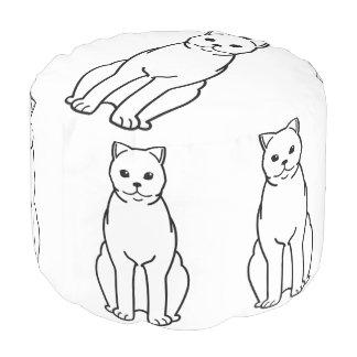 イギリスのShorthair猫の漫画 プーフ