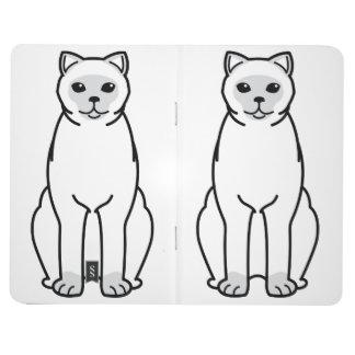 イギリスのShorthair Colourpointed猫の漫画 ポケットジャーナル