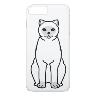 イギリスのShorthair Colourpointed猫の漫画 iPhone 8 Plus/7 Plusケース