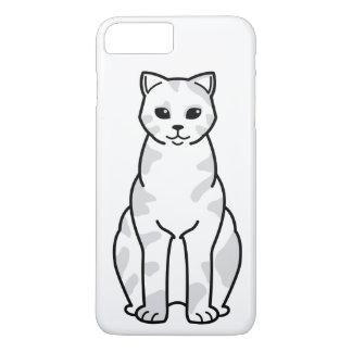 イギリスのShorthair Tortie猫の漫画 iPhone 8 Plus/7 Plusケース
