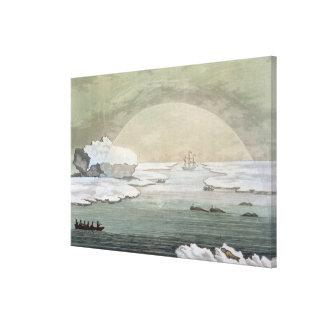 イギリスのwhaleboat凍らでsによって解放されます キャンバスプリント