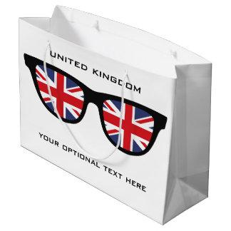 イギリスはカスタムな文字及び色のギフトバッグを影で覆います ラージペーパーバッグ
