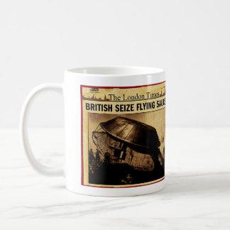 イギリスは空飛ぶ円盤を握ります コーヒーマグカップ