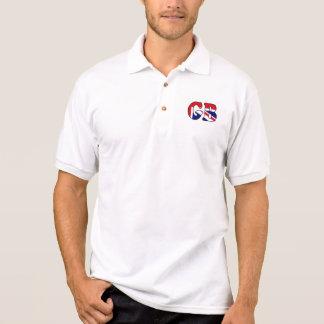イギリスイギリスの旗のゴルフポロ ポロシャツ