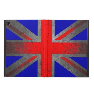 イギリスグランジなネオン旗のipadの空気箱 iPad airケース