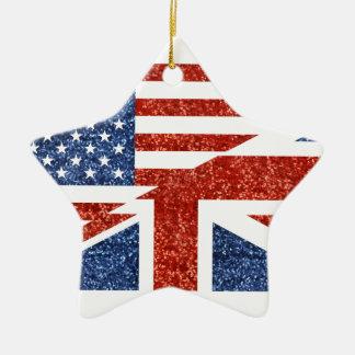イギリスグリッター米国 セラミックオーナメント