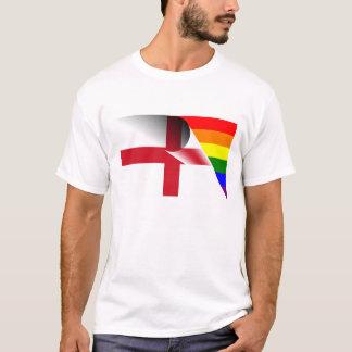 イギリスゲイプライドの虹の旗 Tシャツ