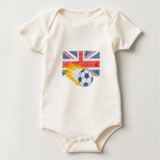 イギリスサッカー ベビーボディスーツ