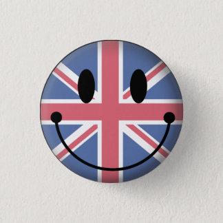 イギリススマイリー 3.2CM 丸型バッジ