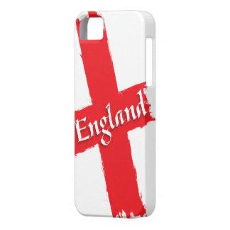 イギリスセントジョージの十字の旗のブラシの打撃 iPhone SE/5/5s ケース