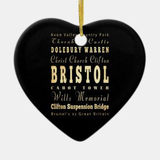 イギリスタイポグラフィの芸術のブリストル都市 セラミックオーナメント