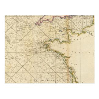 イギリスチャネル、ビスケー湾 ポストカード
