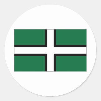 イギリスデボン旗 ラウンドシール